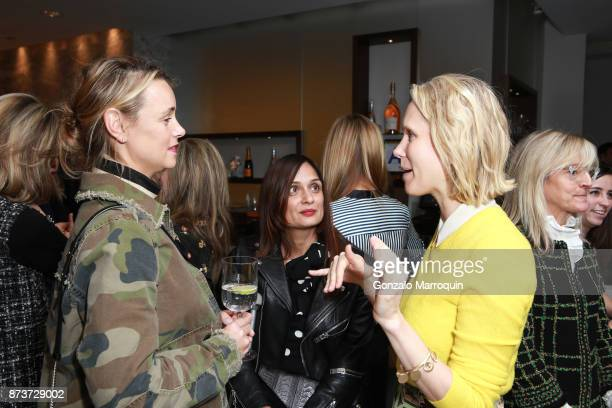 Allison Aston Roopal Patel and Indre Rockefeller during the Saks Fifth Avenue and The Society of Memorial Sloan Kettering Luncheon on November 13...