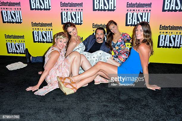 Allison Baker Melanie Scrofano Jim Rogon Lindsay Govan and Dominique ProvostChalkley attend Entertainment Weekly's Annual ComicCon Party 2016 at...