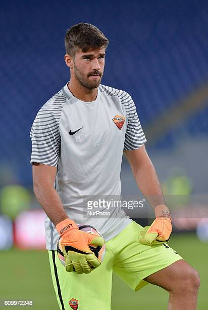 Allison Becker during the Italian Serie A football match between AS Roma and FC Crotone at the Olympic Stadium in Rome on september 21 2016