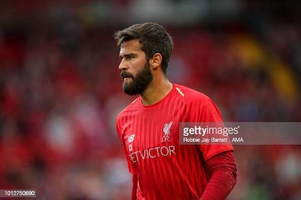 Allison Becker of Liverpool during the preseason friendly between Liverpool and Torino at Anfield on August 7 2018 in Liverpool England