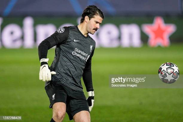 Allison Becker of Liverpool FC during the UEFA Champions League match between Real Madrid v Liverpool at the Estadio Alfredo Di Stefano on April 6,...