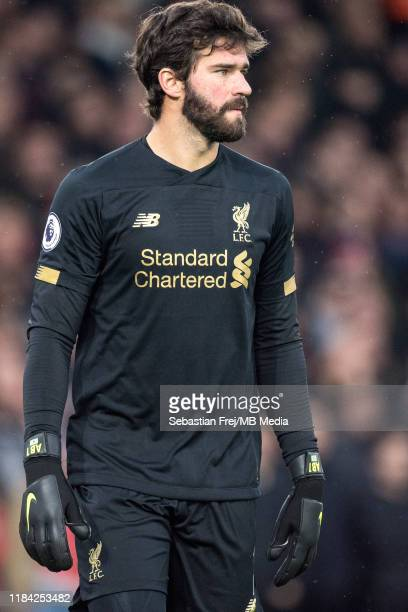 Allison Becker of Liverpool FC reaction during the Premier League match between Crystal Palace and Liverpool FC at Selhurst Park on November 23 2019...