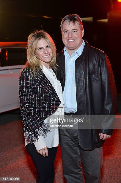 Allison Berg and Larry Berg attend LACMA Celebrates Promised Gift of The James Goldstein House on March 23 2016 in Beverly Hills California