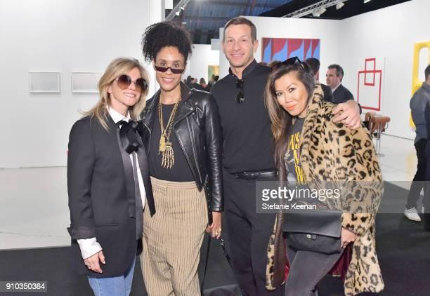 Allison Berg Angela Davis David Sanders and Suzie Vuong at OPENING NIGHT | ART LOS ANGELES CONTEMPORARY 9TH EDITION at Barkar Hangar on January 25...