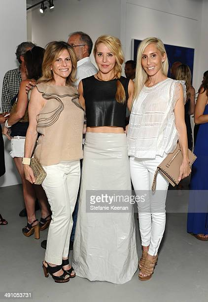 Allison Berg artist Stephanie Hirsch and Alexandra von Furstenberg attend the grand opening of De Re Gallery on May 15 2014 in West Hollywood CA
