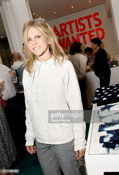 Allison Berg attends LACMA's Director Circle debuts the Spring 2015 Wear LACMA collection featuring designs By dosa And FREECITY at LACMA on May 20...