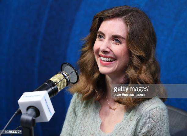 Allison Brie visits the SiriusXM Hollywood Studio on January 23 2020 in Los Angeles California