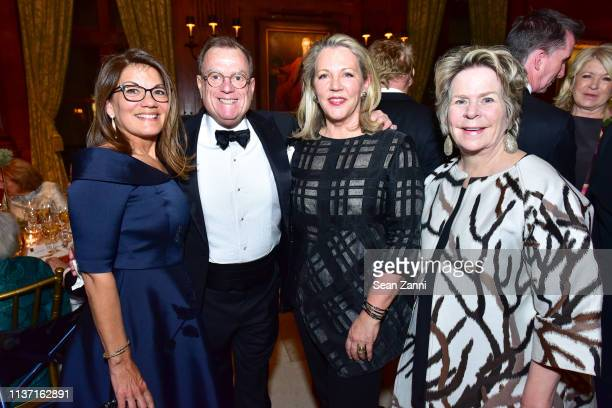 Allison Caccoma Jose Carlino Suzanne Tucker and Bunny Williams attend New York School Of Interior Design Annual Gala at The University Club on March...