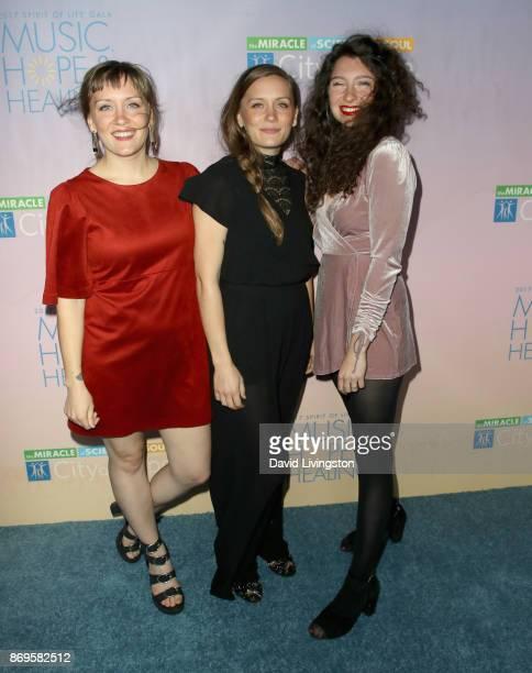 Allison Closner Meegan Closner and Natalie Closner Schepman of the band Joseph at the City of Hope's 2017 Spirit of Life Gala at Barker Hangar on...