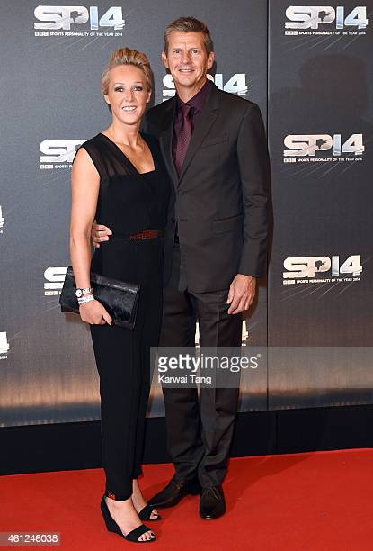 Allison Curbishley and Steve Cram attend the BBC Sports Personality of the Year awards at The Hydro on December 14 2014 in Glasgow Scotland