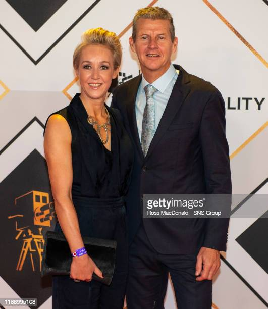 Allison Curbishley and Steve Cram on the red carpet at the BBC Sports Personality of the Year Awards, at the P&J Live arena on December 15 in...