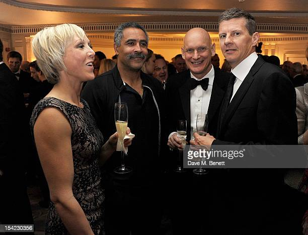 Allison Curbishley Daley Thompson Duncan Goodhew and Steve Cram attend Lord Coe's 'Journey to 2012' event for the PSP Association at The Dorchester...