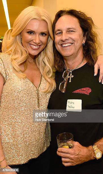 Allison DeMarcus and Ricky Kelley attend the 23rd Annual CAA BBQ at Creative Artists Agency's Nashville office on June 8 2015 in Nashville Tennessee