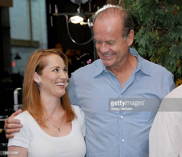 Allison Dubois and Kelsey Grammer celebrate the 100th Episode of Medium at Raleigh Studios in Manhattan Beach California on August 27 2009