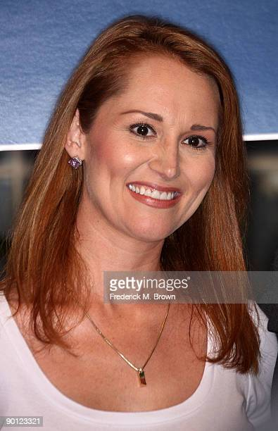 Allison Dubois attends the 100th episode cake cutting celebration for the television show Medium at Raleigh Studios on August 27 2009 in Manhattan...