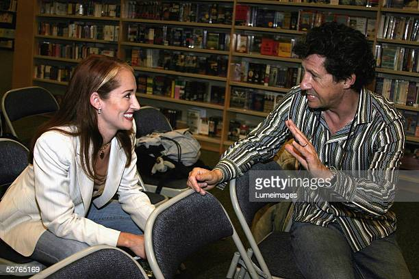 Allison Dubois who inspired the NBC series MEDIUM and actor Charles Shaughnessy attend a booksigning event for Allison DuBois' Don't Kiss Them...