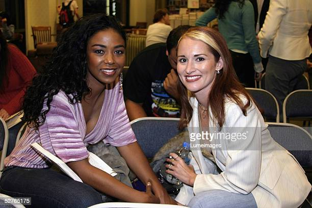 Allison DuBois who inspired the NBC series MEDIUM and Ananda Lewis attend a booksigning event for Don't Kiss Them GoodBye on at Barnes Noble at The...