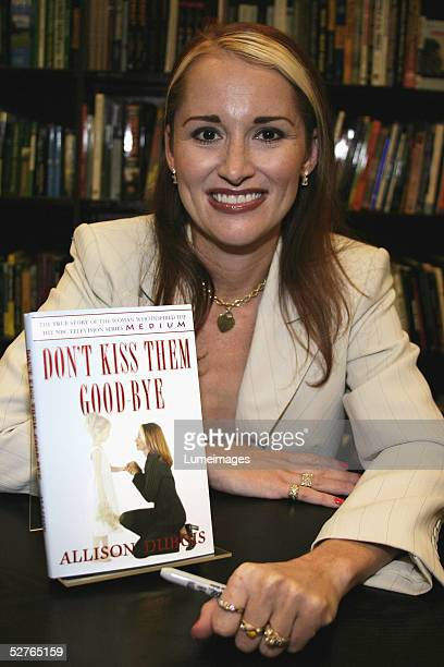 Allison DuBois who inspired the NBC series MEDIUM attends a booksigning event for Don't Kiss Them GoodBye on at Barnes Noble at The Grove at Farmers...