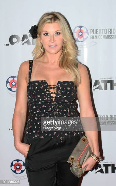 Allison Dunbar attends the screening of Crackle/Sony Pictures TV Series The Oath at Fine Arts Cinema on February 25 2018 in San Juan Puerto Rico