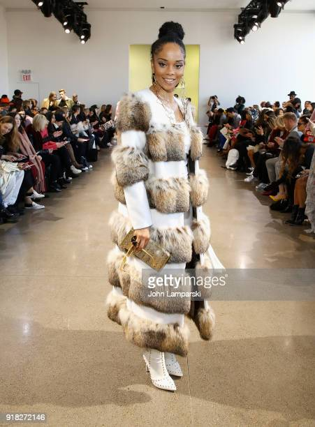 Allison Elizabeth Brown attends Leanne Marshall show during February 2018 New York Fashion Week The Shows at Gallery II at Spring Studios on February...