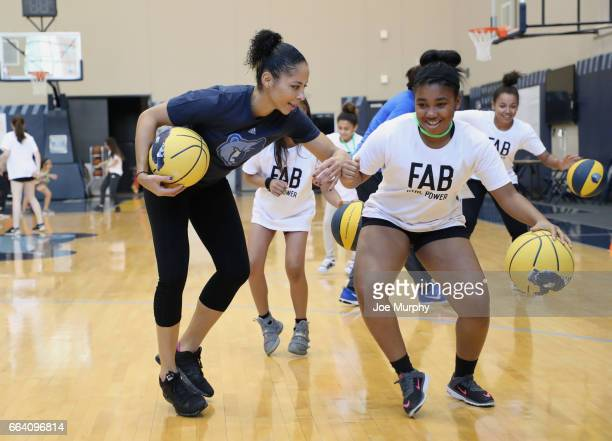 Allison Feaster participates during the Memphis Grizzlies first annual Girl's Summit on March 30 2017 at FedExForum in Memphis Tennessee NOTE TO USER...