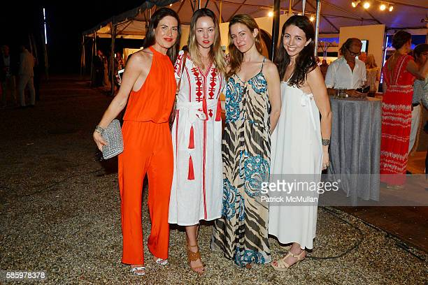 Allison Ferrara Anna Nikolayevsky Sonja Bebber and Alex Klein attend The 23rd Annual Watermill Center Summer Benefit Auction at The Watermill Center...