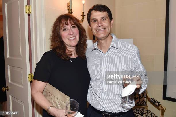 Allison Godman and Jay Godman attend Katrina and Don Peebles Host NY Mission Society Summer Cocktails at Private Residence on July 7 2017 in...