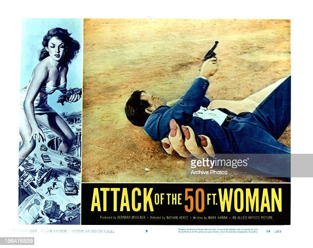 Allison Hayes in movie art for the film 'Attack Of The 50 Foot Woman' 1950