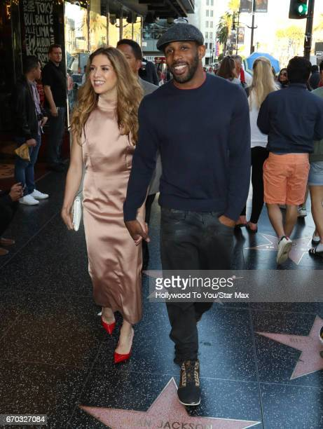 Allison Holker and Stephen Twitch Boss are seen on April 18 2017 in Los Angeles CA