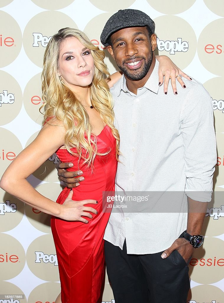 Allison Holker and Stephen 'Twitch' Boss attend the People's One To Watch Event held at Hinoki & The Bird on October 9, 2013 in Los Angeles, California.