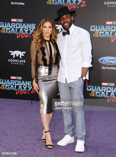 Allison Holker and Stephen 'tWitch' Boss attend the premiere of 'Guardians of the Galaxy Vol 2' at Dolby Theatre on April 19 2017 in Hollywood...