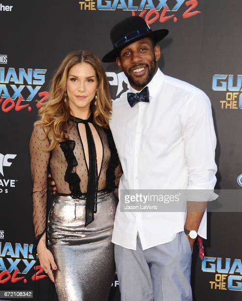 Allison Holker and Stephen tWitch Boss attend the premiere of Guardians of the Galaxy Vol 2 at Dolby Theatre on April 19 2017 in Hollywood California