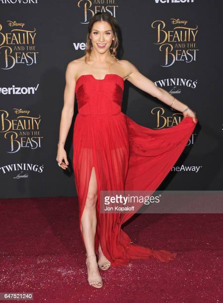 Allison Holker arrives at the Los Angeles Premiere Beauty And The Beast at El Capitan Theatre on March 2 2017 in Los Angeles California