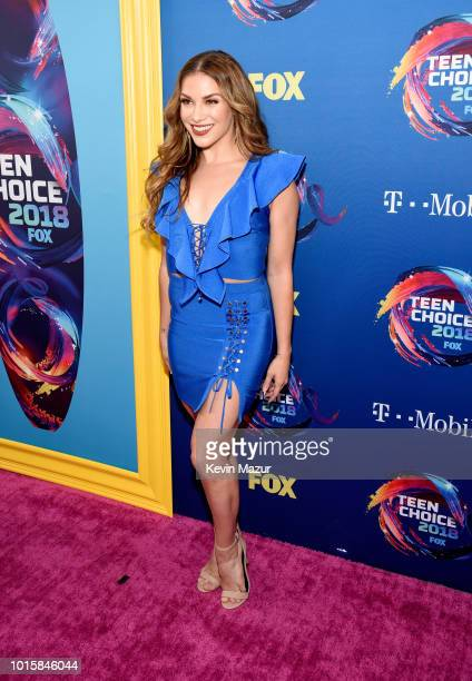 Allison Holker attends FOX's Teen Choice Awards at The Forum on August 12 2018 in Inglewood California
