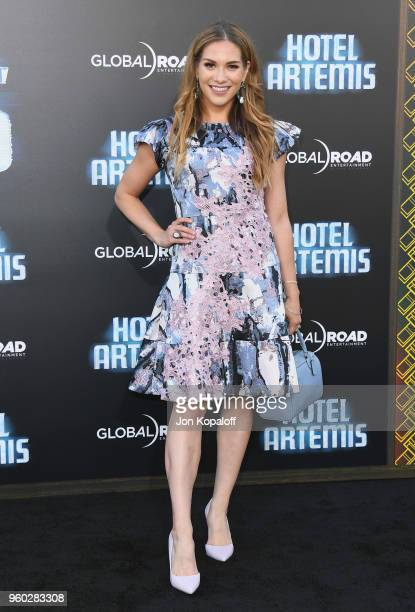"""Allison Holker attends Global Road Entertainment's """"Hotel Artemis"""" Premiere at Regency Village Theatre on May 19, 2018 in Westwood, California."""