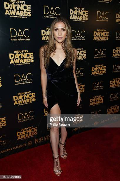 Allison Holker attends the 2018 Industry Dance Awards at Avalon Hollywood on August 15 2018 in Los Angeles California