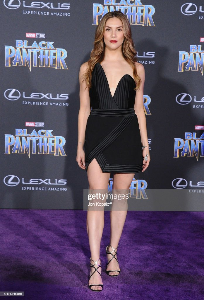 Allison Holker attends the Los Angeles Premiere 'Black Panther' at Dolby Theatre on January 29, 2018 in Hollywood, California.