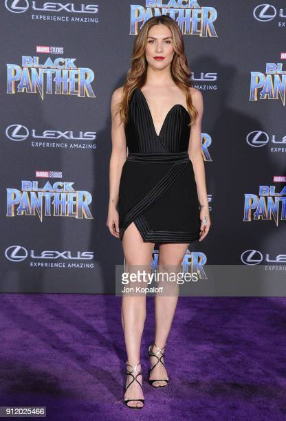 Allison Holker attends the Los Angeles Premiere 'Black Panther' at Dolby Theatre on January 29 2018 in Hollywood California