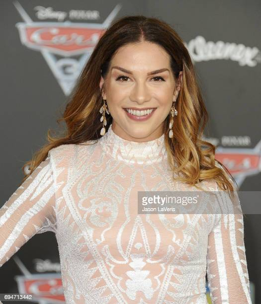 Allison Holker attends the premiere of Cars 3 at Anaheim Convention Center on June 10 2017 in Anaheim California