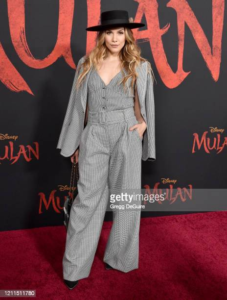 Allison Holker attends the Premiere Of Disney's Mulan on March 09 2020 in Hollywood California