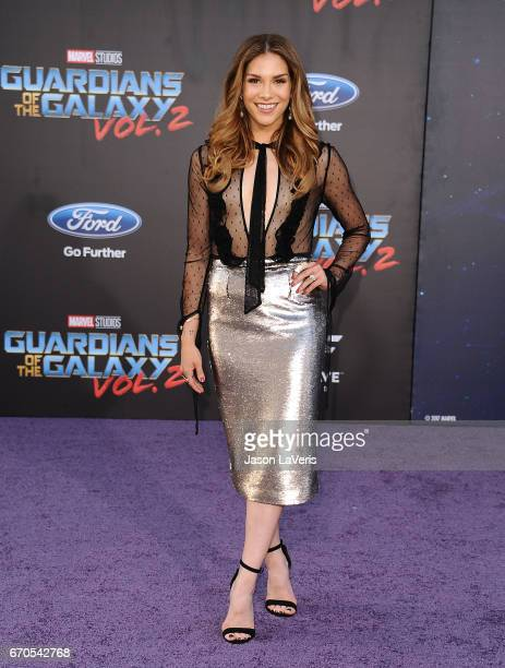"""Allison Holker attends the premiere of """"Guardians of the Galaxy Vol. 2"""" at Dolby Theatre on April 19, 2017 in Hollywood, California."""