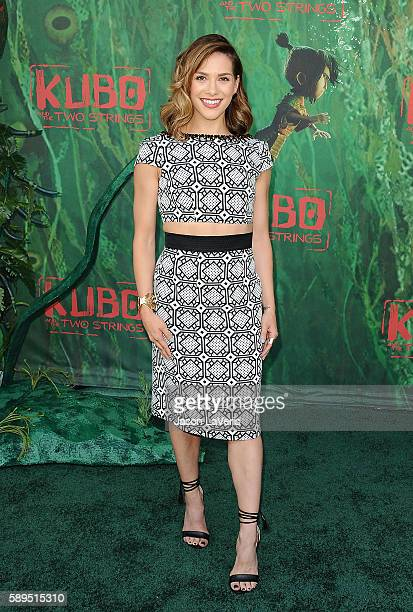 Allison Holker attends the premiere of Kubo and the Two Strings at AMC Universal City Walk on August 14 2016 in Universal City California