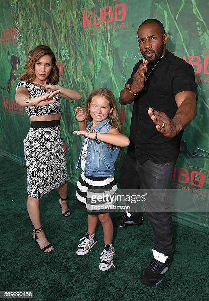 Allison Holker Weslie Fowler and Stephen Boss aka Twitch attend the premiere of Focus Features' Kubo And The Two Strings at AMC Universal City Walk...