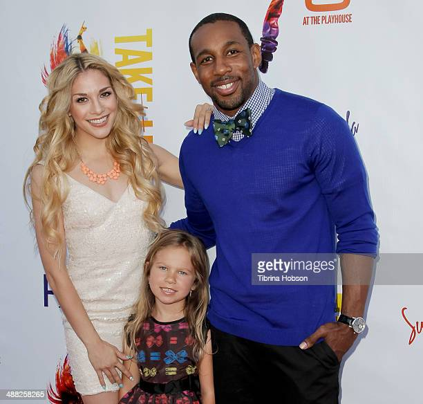 Allison Holker Weslie Fowler and Stephen Boss attend the Pasadena Playhouse's premiere gala at Pasadena Playhouse on May 4 2014 in Pasadena California