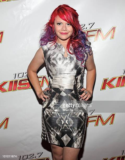 Allison Iraheta attends 1027 KIIS FM hosts 7th annual 'American Idol' finale viewing party at Regal 14 at LA Live downtown on May 26 2010 in Los...