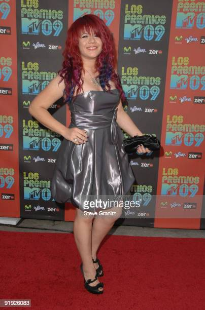 Allison Iraheta attends Los Premios MTV 2009 Latin America Awards held at Gibson Amphitheatre on October 15 2009 in Universal City California