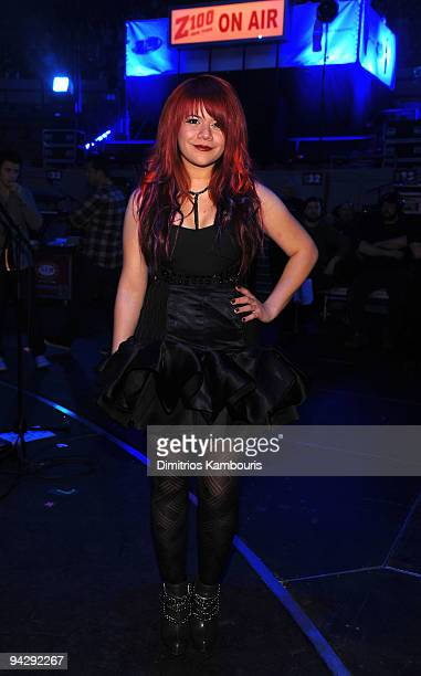 *EXCLUSIVE* Allison Iraheta attends Z100's Jingle Ball 2009 presented by HM at Madison Square Garden on December 11 2009 in New York City
