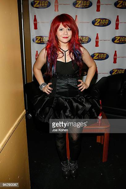 Allison Iraheta attends Z100's Jingle Ball 2009 PreShow at Hammerstein Ballroom on December 11 2009 in New York City