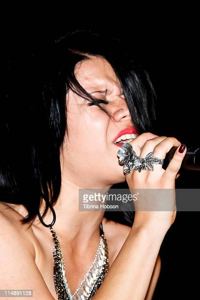Allison Iraheta performs at the KIIS FM's 10th Annual 'American Idol' Finale Viewing Party at the Regal 14 LA Live Downtown on May 25 2011 in Los...