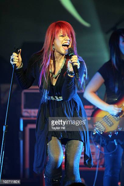 Allison Iraheta performs at the Ryman Auditorium on July 7 2010 in Nashville Tennessee